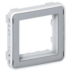 Plexo55 IP20 Адаптер без крышки для 2-мод. механизмов Mosaic