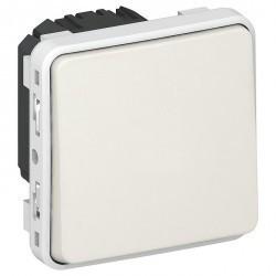 Переключатель 1-клавишный Legrand PLEXO 55, открытый монтаж, белый, 069611