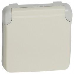 Розетка Legrand PLEXO 55, открытый монтаж, с заземлением, белый, 069639