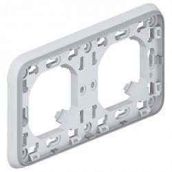 Рамка 2 поста Legrand PLEXO 55, горизонтальная, серый, 069683