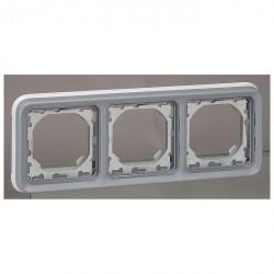 Рамка 2 поста Legrand PLEXO 55, горизонтальная, серый, 069687