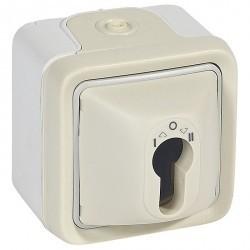 Выключатель поворотный с ключом Legrand PLEXO 55, белый, 069757