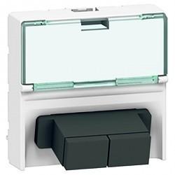 Розетка 2xSC-duplex Legrand MOSAIC, белый, 078617