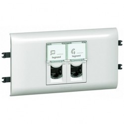 Розетка 2xRJ45 Cat.6 Legrand MOSAIC, белый, 078673