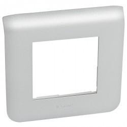 Рамка 1 пост Legrand MOSAIC, алюминий, 079302