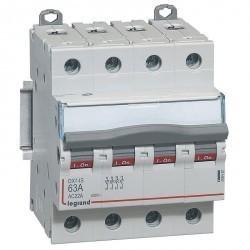 Выключатели-разъединители DX³-IS - 4П - 400 В~ - 63 А - 4 модуля