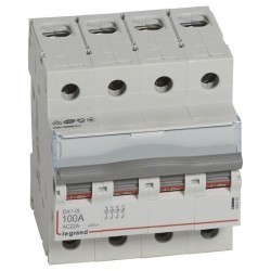 Выключатели-разъединители DX³-IS - 4П - 400 В~ - 100 А - 4 модуля