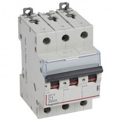 Автоматический выключатель Legrand DX³ 3P 1А (C) 6кА, 407284