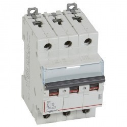 Автоматический выключатель Legrand DX³ 3P 10А (B) 10кА, 407559