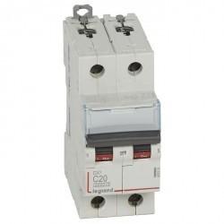 Автоматический выключатель Legrand DX³ 2P 20А (C) 10кА, 407801