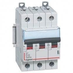 Автоматический выключатель Legrand DX³ 3P 10А (D) 10кА, 408087