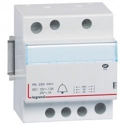 Трансформатор для цепей звуковой сигнализации - 230 В/24-12 В - 1-1,5 А - 24-18 ВA