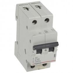 Автоматический выключатель Legrand RX3 2P 10А (C) 4,5кА, 419695