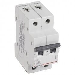 Автоматический выключатель Legrand RX3 2P 20А (C) 4,5кА, 419698