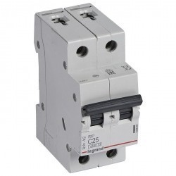 Автоматический выключатель Legrand RX3 2P 25А (C) 4,5кА, 419699