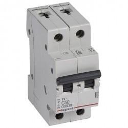 Автоматический выключатель Legrand RX3 2P 50А (C) 4,5кА, 419702