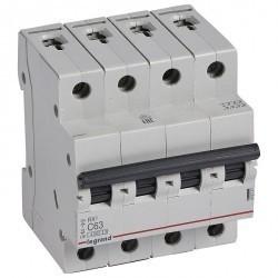 Автоматический выключатель Legrand RX3 4P 63А (C) 4,5кА, 419747