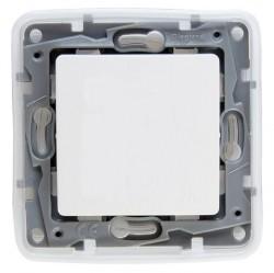 Переключатель 1-клавишный Legrand QUTEO-ETIKA, скрытый монтаж, белый, 672200
