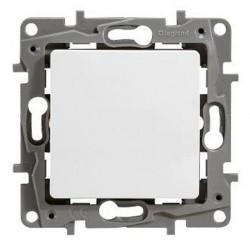 Выключатель 1-клавишный Legrand QUTEO-ETIKA, скрытый монтаж, белый, 672201