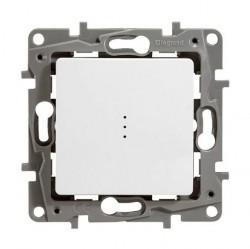 Выключатель 1-клавишный Legrand QUTEO-ETIKA, с подсветкой, скрытый монтаж, белый, 672203