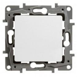 Выключатель 1-клавишный кнопочный Legrand QUTEO-ETIKA, скрытый монтаж, белый, 672214