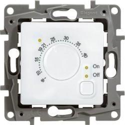 Термостат для теплого пола Legrand ETIKA, с датчиком, белый, 672230