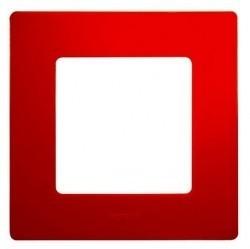 Рамка 1 пост Legrand QUTEO-ETIKA, красный, 672531