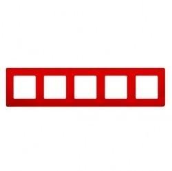 Рамка 5 постов Legrand QUTEO-ETIKA, красный, 672535