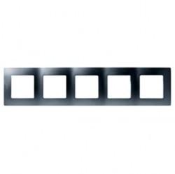 Рамка 5 постов Legrand QUTEO-ETIKA, алюминий, 672555