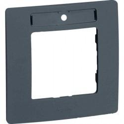 Рамка 1 пост Legrand QUTEO-ETIKA, горизонтальная, алюминий, 672556