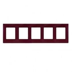 Рамка 5 постов Legrand QUTEO-ETIKA, сливовый, 672565