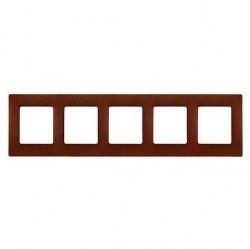 Рамка 5 постов Legrand QUTEO-ETIKA, какао, 672575