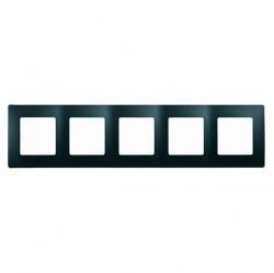 Рамка 5 постов Legrand QUTEO-ETIKA, антрацит, 672585
