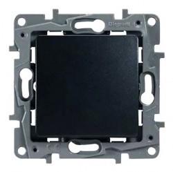 Выключатель 1-клавишный Legrand QUTEO-ETIKA, скрытый монтаж, антрацит, 672601
