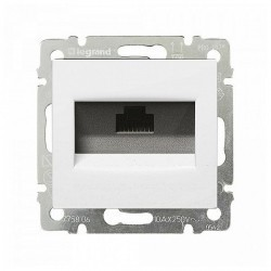 Розетка 2xRJ45 Cat.5 Legrand VALENA DIY, белый, 694286