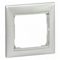 Рамка 1 пост Legrand VALENA DIY, алюминий, 694330
