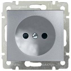 Розетка Legrand VALENA DIY, скрытый монтаж, алюминий, 694341
