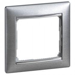 Рамка 1 пост Legrand VALENA DIY, алюминий, 694353