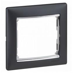 Рамка 1 пост Legrand VALENA DIY, горизонтальная, ноктюрн/серебряный штрих, 696738