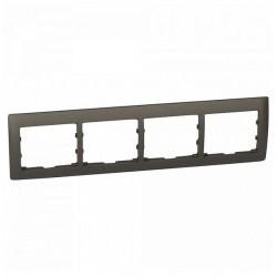 Рамка 4 поста Legrand GALEA LIFE DIY, горизонтальная, темная бронза, 696834