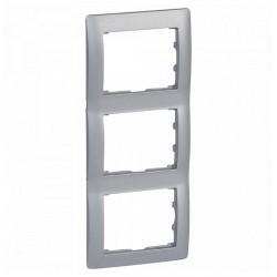 Рамка 3 поста Legrand GALEA LIFE DIY, вертикальная, алюминий, 696856