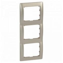 Рамка 3 поста Legrand GALEA LIFE DIY, вертикальная, титан, 696876