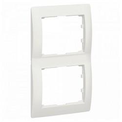 Рамка 2 поста Legrand GALEA LIFE DIY, вертикальная, жемчужно-белый, 696995
