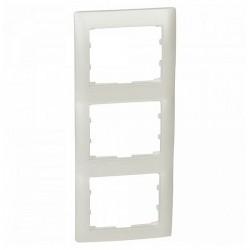 Рамка 3 поста Legrand GALEA LIFE DIY, вертикальная, жемчужно-белый, 696996