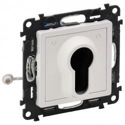 Переключатель-кнопка поворотный с ключом Legrand VALENA LIFE, белый, 752119