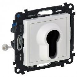 Выключатель поворотный с ключом Legrand VALENA LIFE, белый, 752125