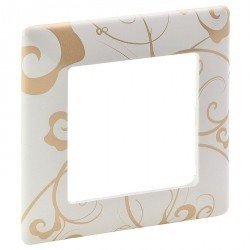 Рамка 1 пост Legrand VALENA LIFE, ампир белый, 754101