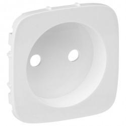Накладка на розетку Legrand VALENA ALLURE, со шторками, алюминий, 754975