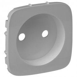 Накладка на розетку Legrand VALENA ALLURE, со шторками, алюминий, 754977