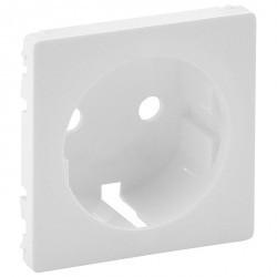 Накладка на розетку Legrand VALENA LIFE, с заземлением, белый, 755200